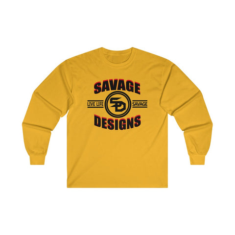 Savage Designs Dead Focus Black/Red Long Sleeve- 1 Color