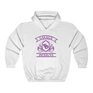 Savage Designs Diamond Floral Purple Hoodie- 4 Colors
