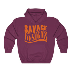 Savage Designs Warped Curve Orange Hoodie- 6 Colors