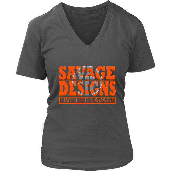 The Savage Within Orange/Grey V-Neck- 9 Colors