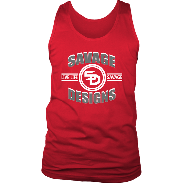 Savage Designs Dead Focus Grey/White Tank Top- 11 Colors