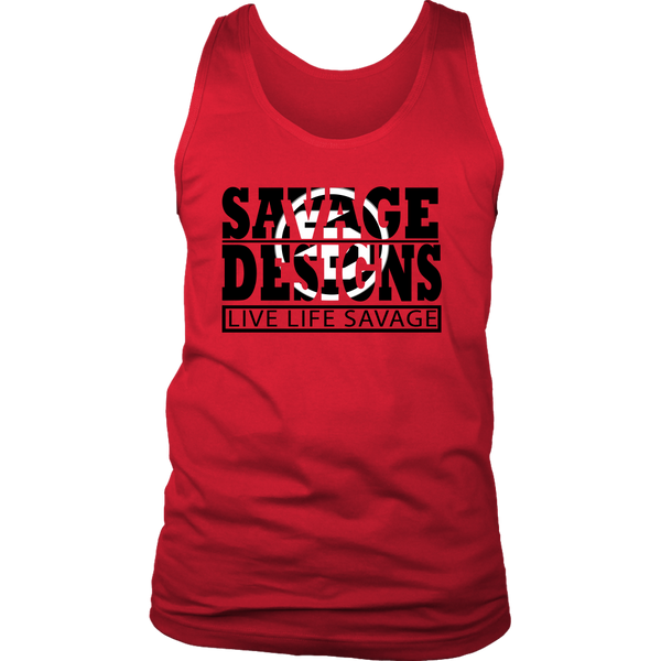 The Savage Within Black/White Tank Top- 9 Colors