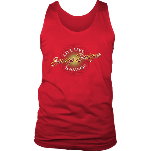 Savage Designs Sunray Flare Maroon and Gold Tank Top- 16 Colors