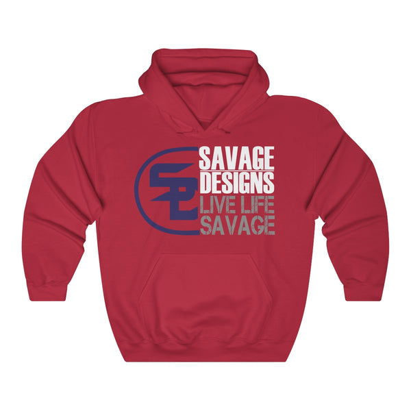 Savage Designs Sliced Up Navy/White/Grey Hoodie- 5 Colors