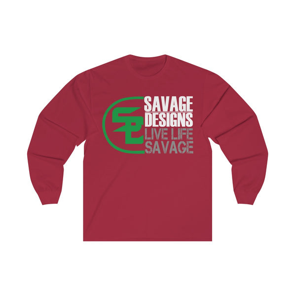 Savage Designs Sliced Up Green/White/Grey Long Sleeve- 5 Colors