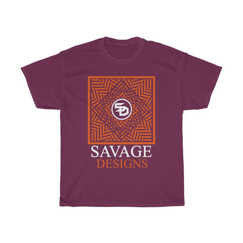 Savage Designs Optical Illusion Orange/White- 1 Color