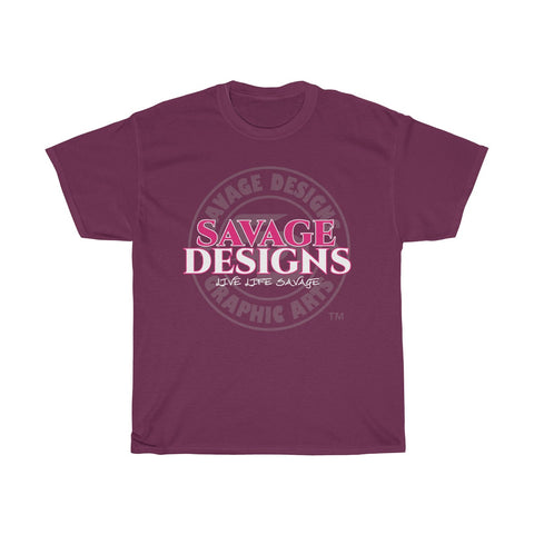 Savage Designs Faded Symbol Hot Pink/White/Grey- 3 Colors