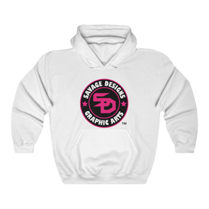 Savage Designs Symbol Patch Hot Pink/Black/White Hoodie- 5 Colors