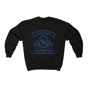 Savage Designs Diamond Floral Royal Blue Sweatshirt- 3 Colors