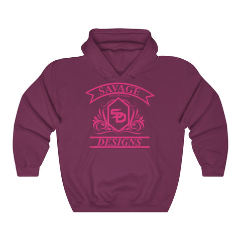 Savage Designs Diamond Floral Hot Pink Hoodie- 6 Colors