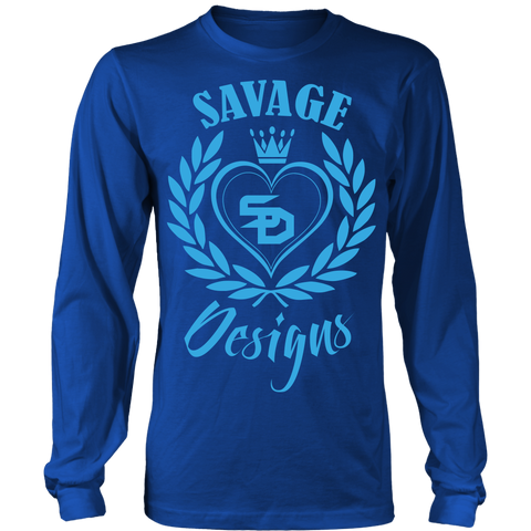 Savage Designs Heart of Hearts Turquoise Long Sleeve- 9 Colors