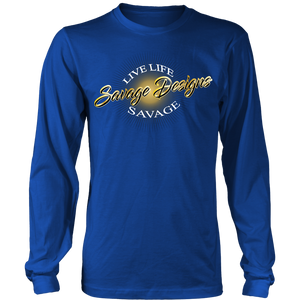 Savage Designs Sunray Flare Black and Gold Long Sleeve- 16 Colors