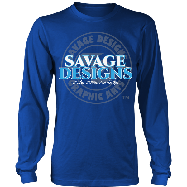 Savage Designs Faded Symbol White/Turquoise/Grey Long Sleeve- 8 Colors
