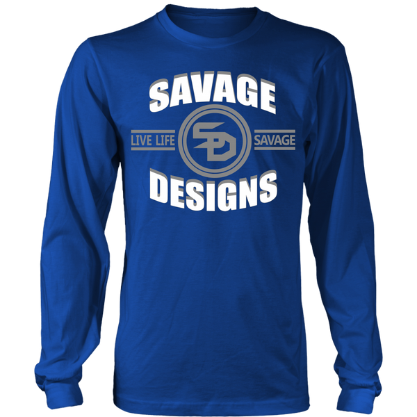 Savage Designs Dead Focus White/Grey Long Sleeve- 7 Colors