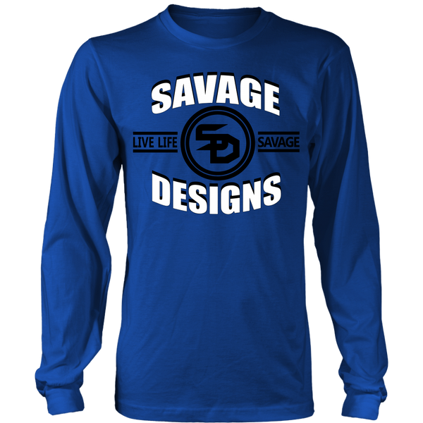 Savage Designs Dead Focus White/Black Long Sleeve- 9 Colors