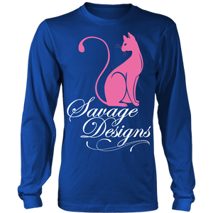 Savage Designs Lady Kitten Pink/White Long Sleeve- 7 Colors