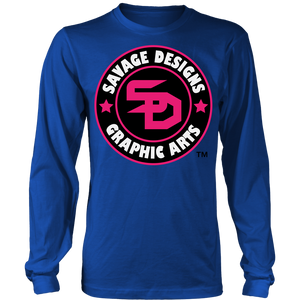 Savage Designs Symbol Patch Hot Pink/Black/White Long Sleeve- 10 Colors
