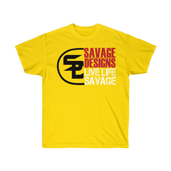 Savage Designs Sliced Up Black/Red/White- 6 Colors