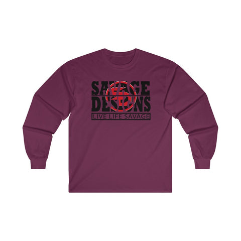 The Savage Within Black/Red Long Sleeve- 3 Colors