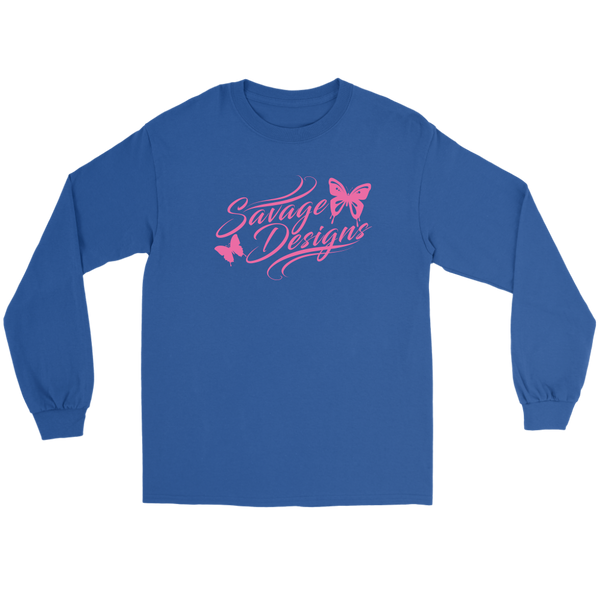 Savage Designs Butterfly Elegance Light Pink Long Sleeve- 9 Colors