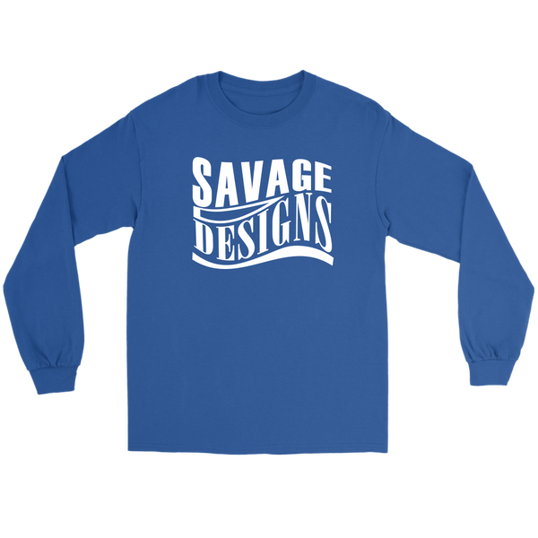 Savage Designs Warped Curve White Long Sleeve- 11 Colors