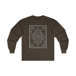 Savage Designs Ace of Spade Grey Long Sleeve- 2 Colors