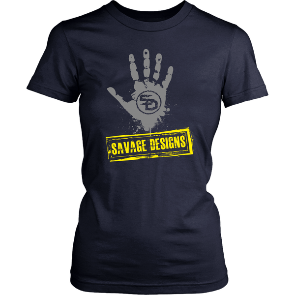 Savage Designs Handprint Stamp Grey/Yellow- 7 Colors