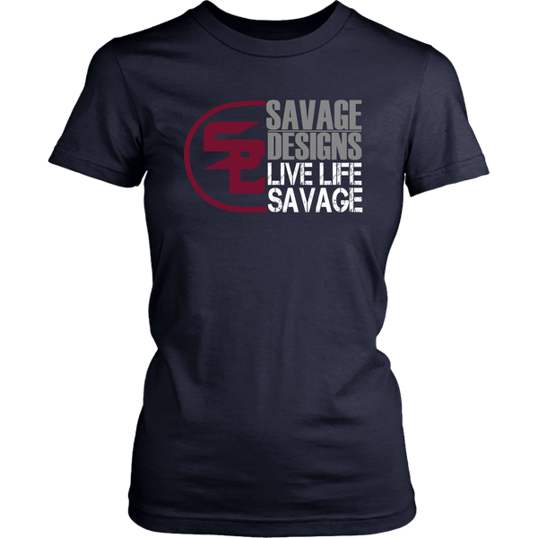 Savage Designs Sliced Up Maroon/Grey/White- 5 Colors