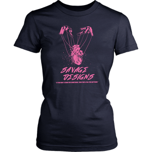Savage Designs Heart Strings Light Pink- 6 Colors