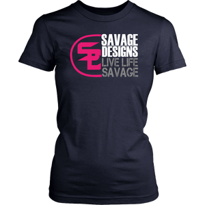 Savage Designs Sliced Up Hot Pink/White/Grey- 10 Colors