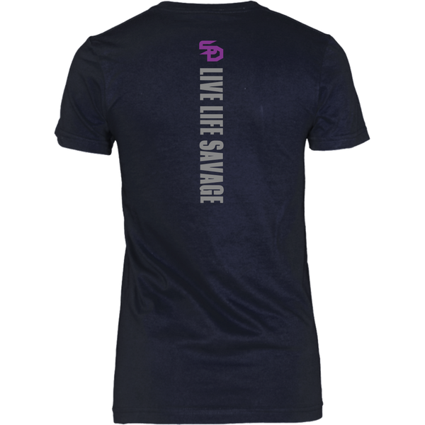 Savage Designs Original Symbol/Live Life Savage Front and Back Print- 5 Colors