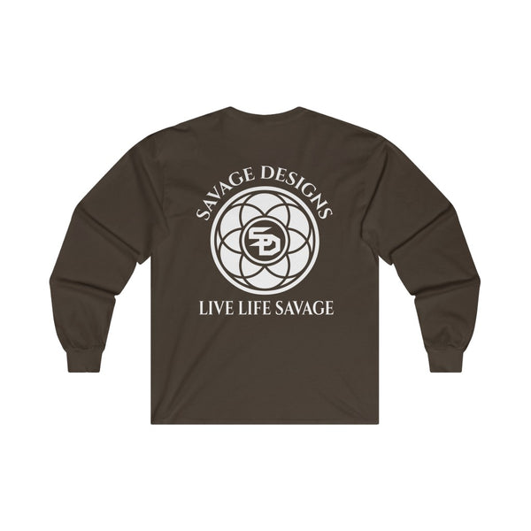 Savage Designs Egyptian Seed of Life White Long Sleeve- 6 Colors