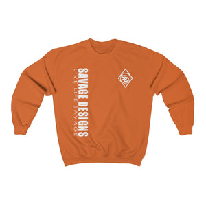 Savage Designs Triple Threat White Sweatshirt- 12 Colors