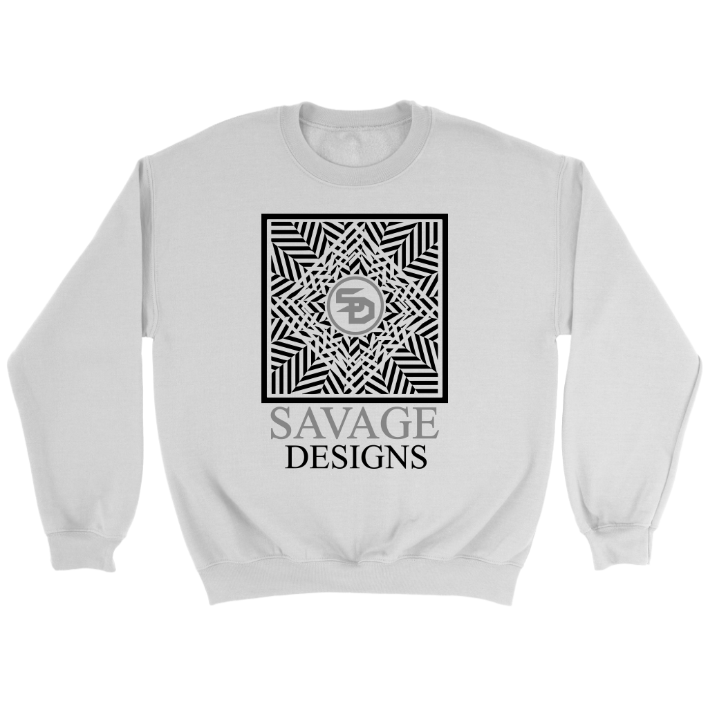 Savage Designs Optical Illusion Black/Grey Sweatshirt- 8 Colors