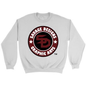 Savage Designs Symbol Patch Burgundy/Black/White Sweatshirt- 3 Colors