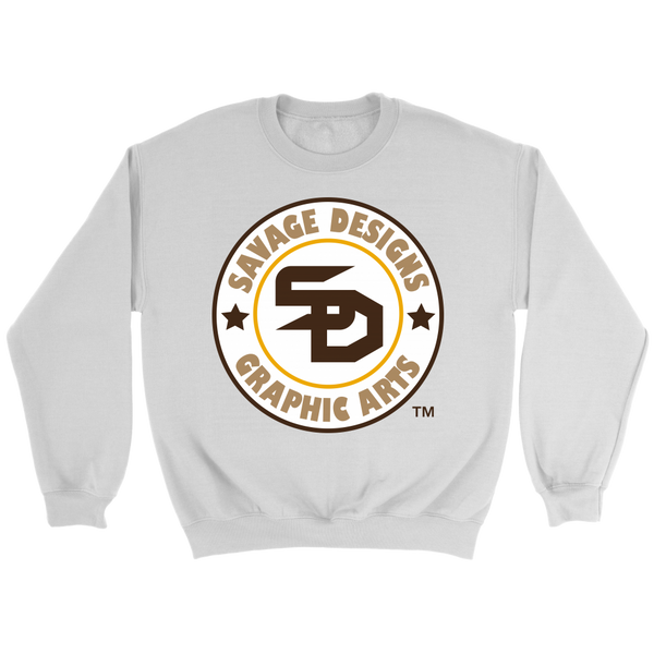 Savage Designs Symbol Patch White/Brown/Tan Sweatshirt- 3 Colors