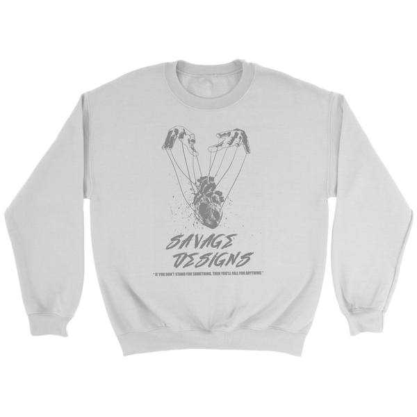 Savage Designs Heart Strings Grey Sweatshirt- 9 Colors