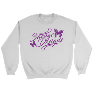 Savage Designs Butterfly Elegance Purple Sweatshirt- 5 Colors