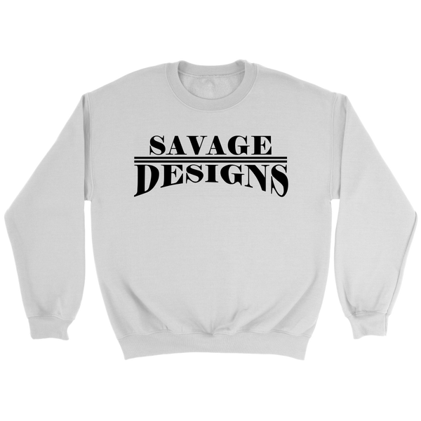 Savage Designs Classic Modern Black Sweatshirt- 8 Colors