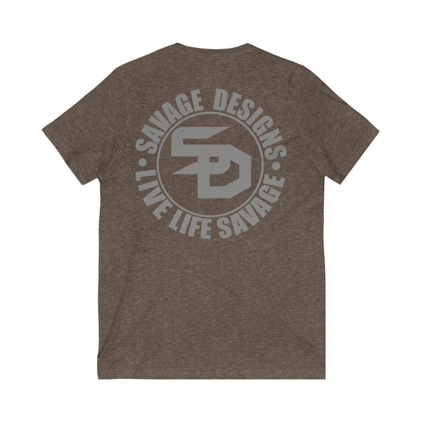 Savage Designs Triple Threat Grey V-Neck- 10 Colors