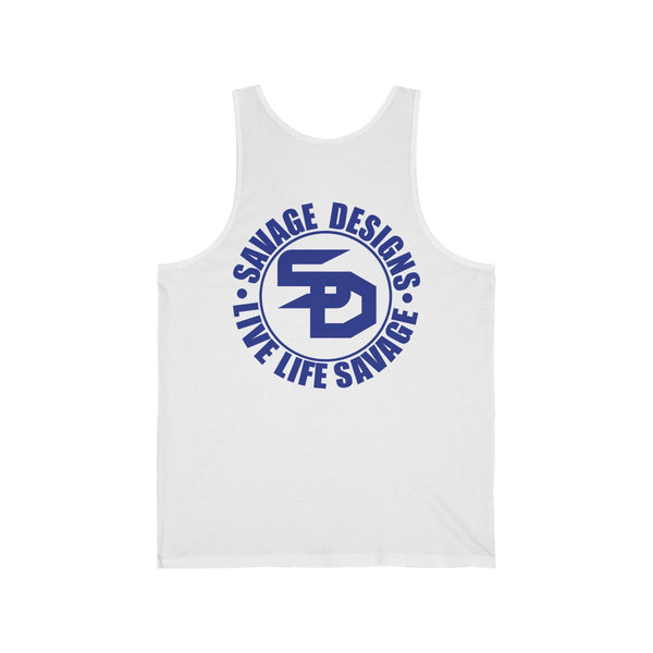 Savage Designs Triple Threat Royal Blue Tank Top- 8 Colors