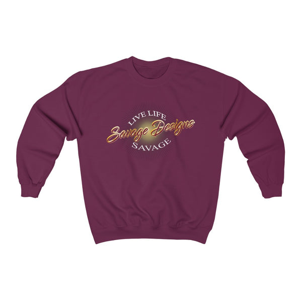 Savage Designs Sunray Flare Maroon and Gold Sweatshirt- 3 Colors