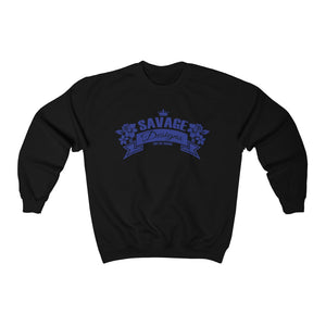 Savage Designs Royal Blossom Royal Blue Sweatshirt- 2 Colors