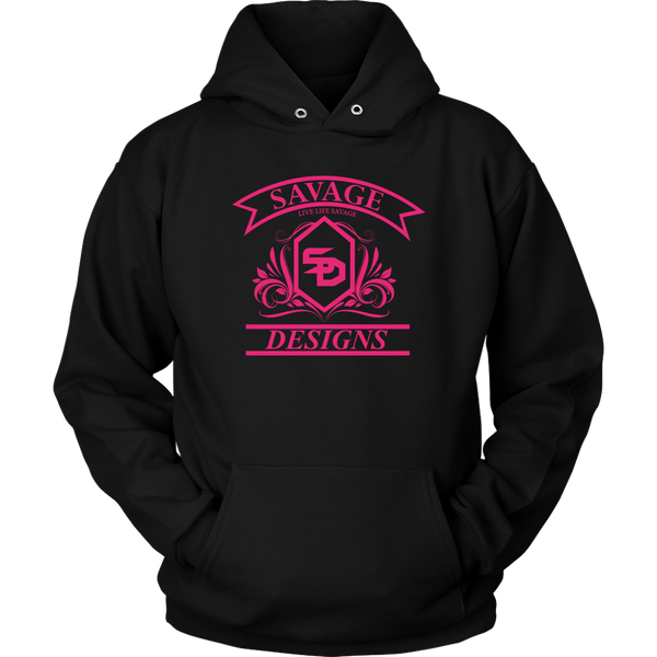 Savage Designs Diamond Floral Hot Pink Hoodie- 8 Colors