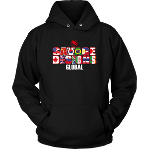 Savage Designs Global Hoodie Front and Back