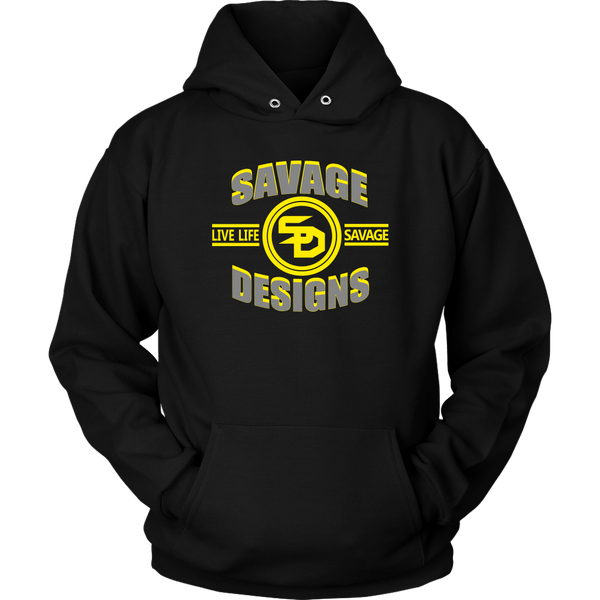 Savage Designs Dead Focus Grey/Yellow Hoodie- 7 Colors