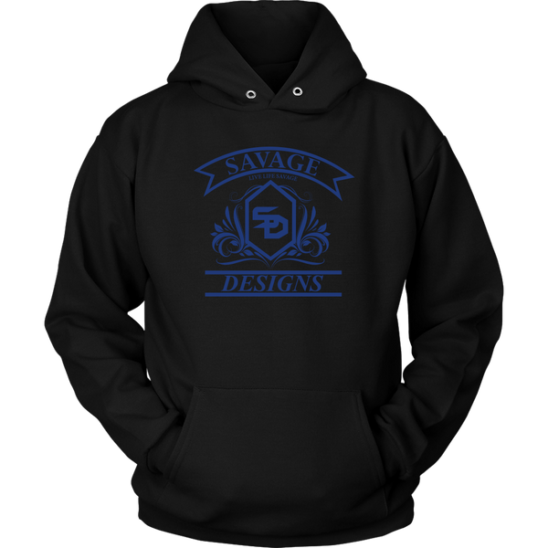 Savage Designs Diamond Floral Royal Blue Hoodie- 8 Colors