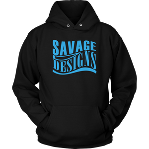 Savage Designs Warped Curve Turquoise Hoodie- 10 Colors
