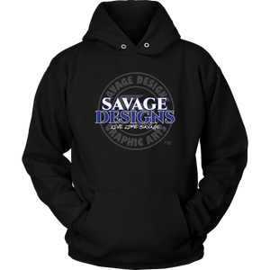 Savage Designs Faded Symbol White/Royal Blue/Grey Hoodie- 7 Colors