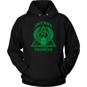 Savage Designs Eygptian Scarab Bettle Green Hoodie- 6 Colors